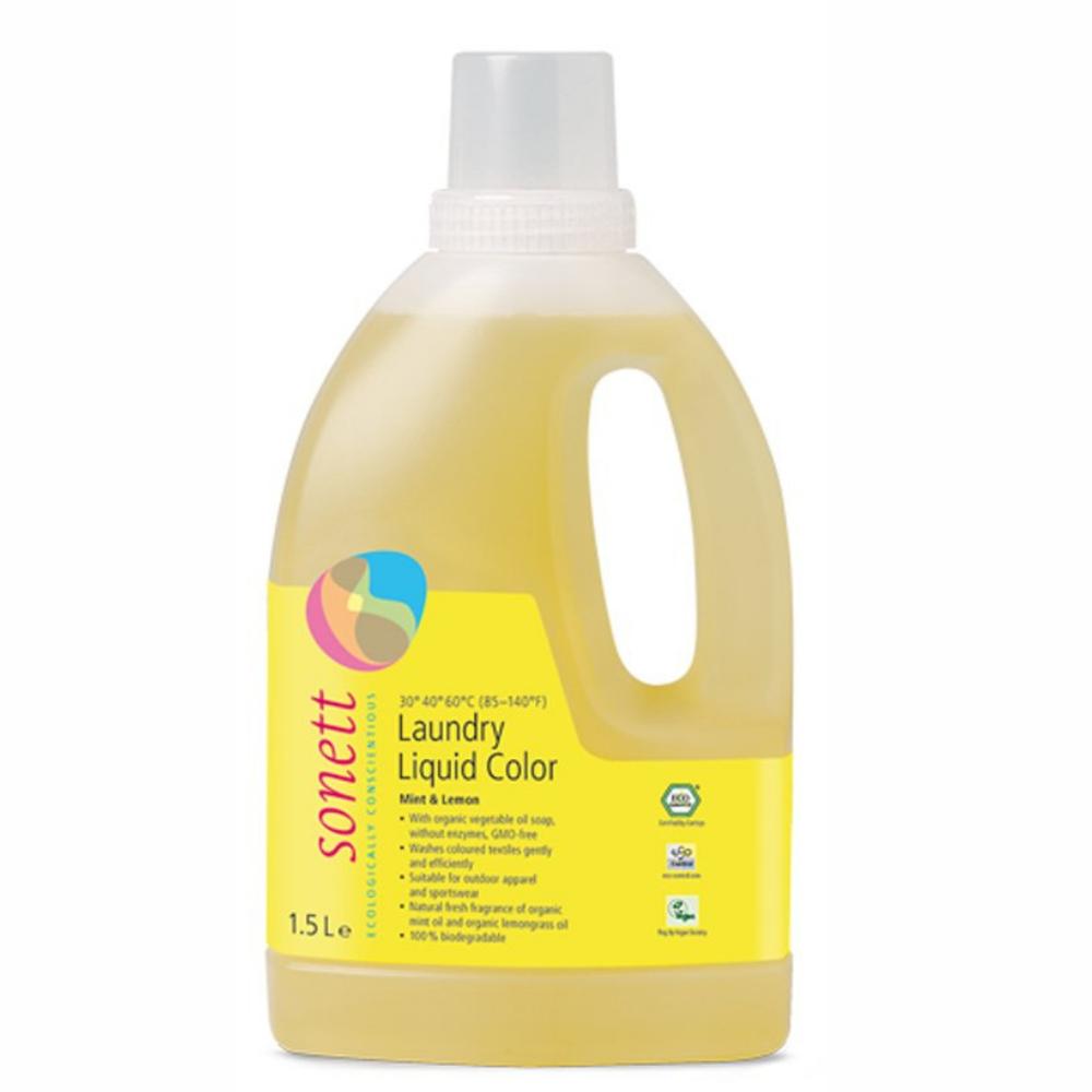 Tekutý prostriedok na pranie color mäta & citrón Sonett 1,5L