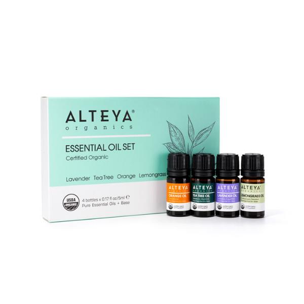 Darčekový set esenciálnych olejov Bio Alteya 4x5 ml
