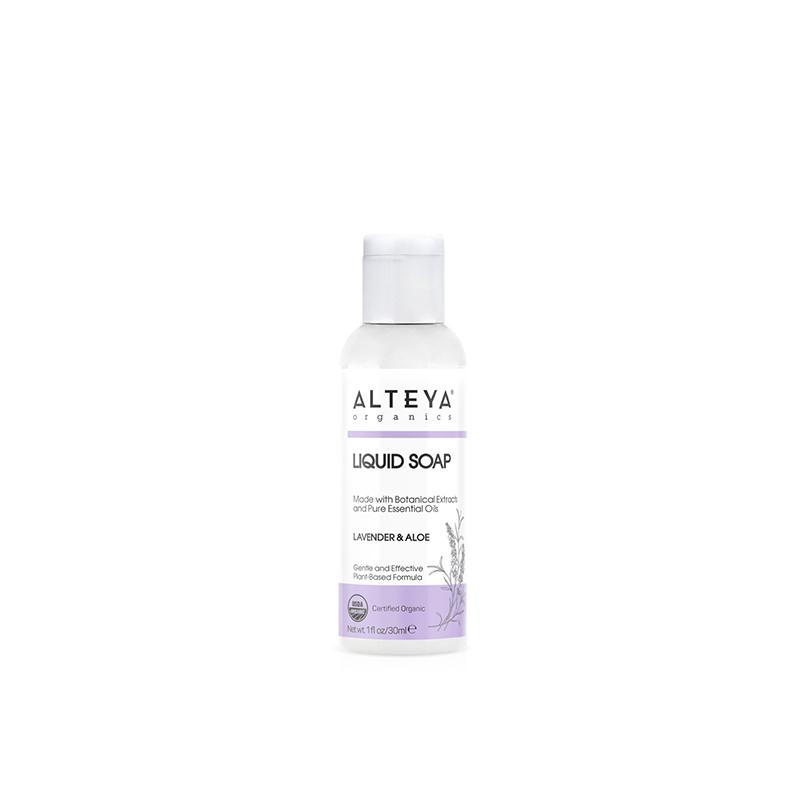 Organické tekuté mydlo Levanduľa & Aloe Bio Alteya Organics 30 ml