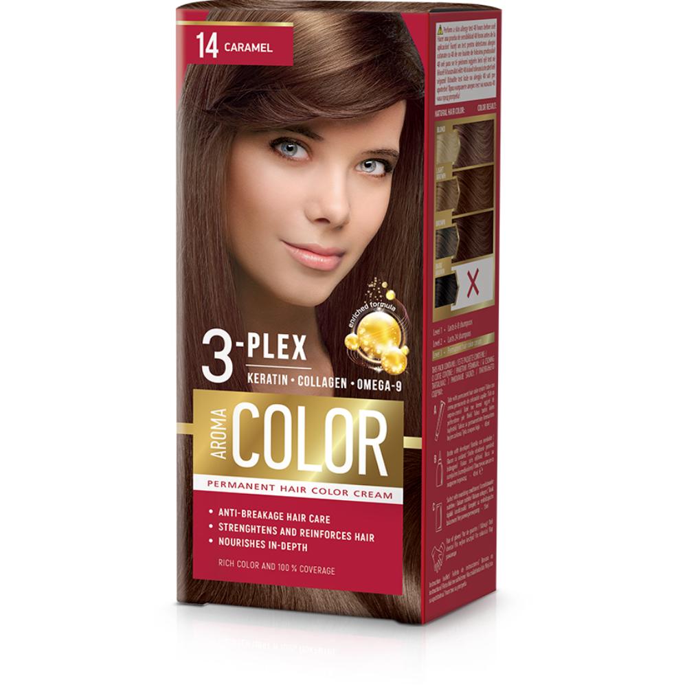 Farba na vlasy - karamel č.14 Aroma Color