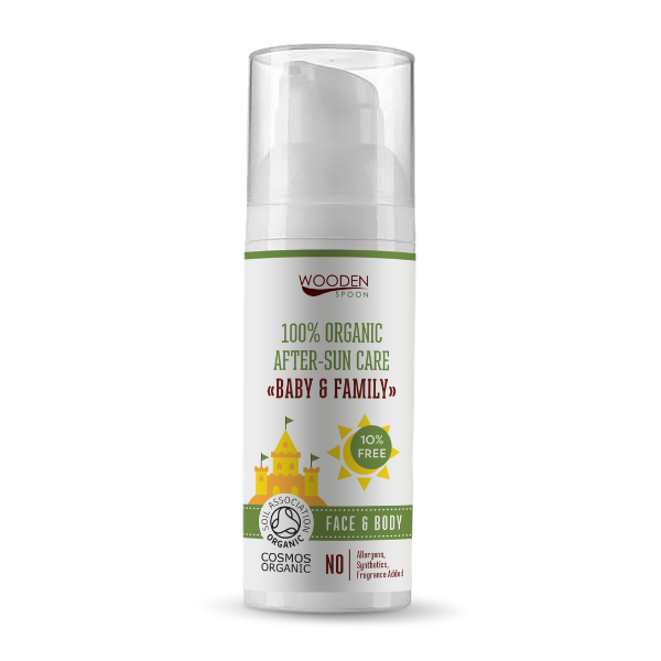 Detský organický olej po opaľovaní Baby & Family WoodenSpoon 50 ml