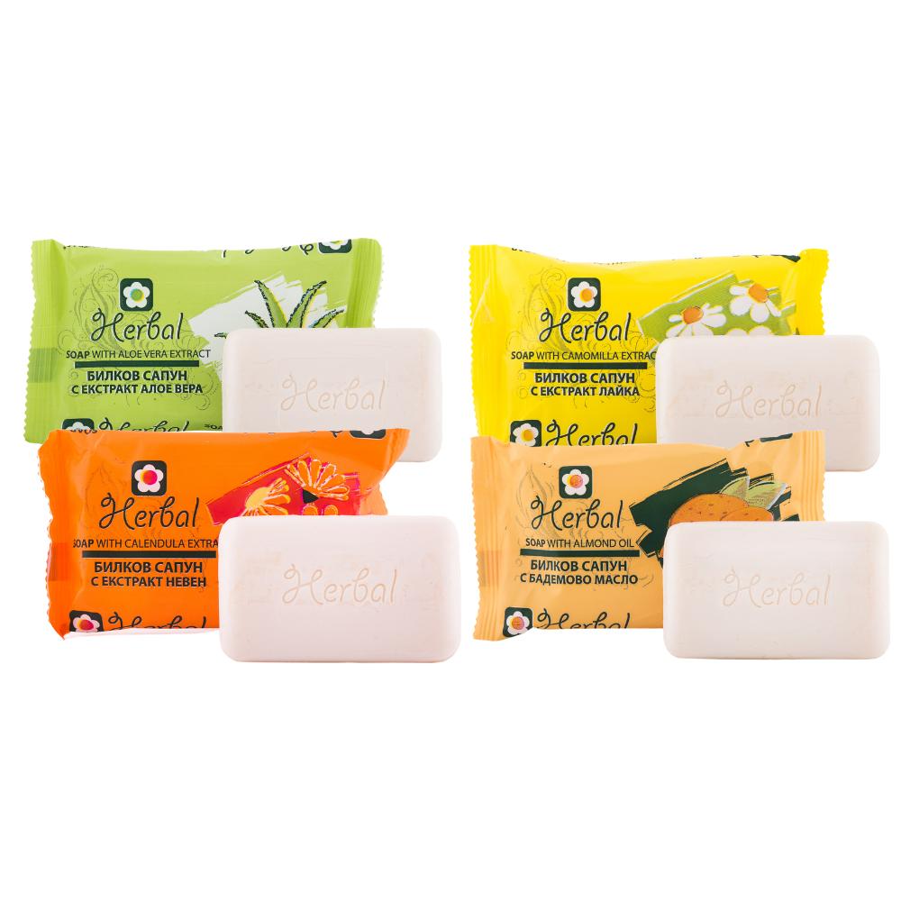 Set bylinkových mydiel Biofresh 4x 75 g