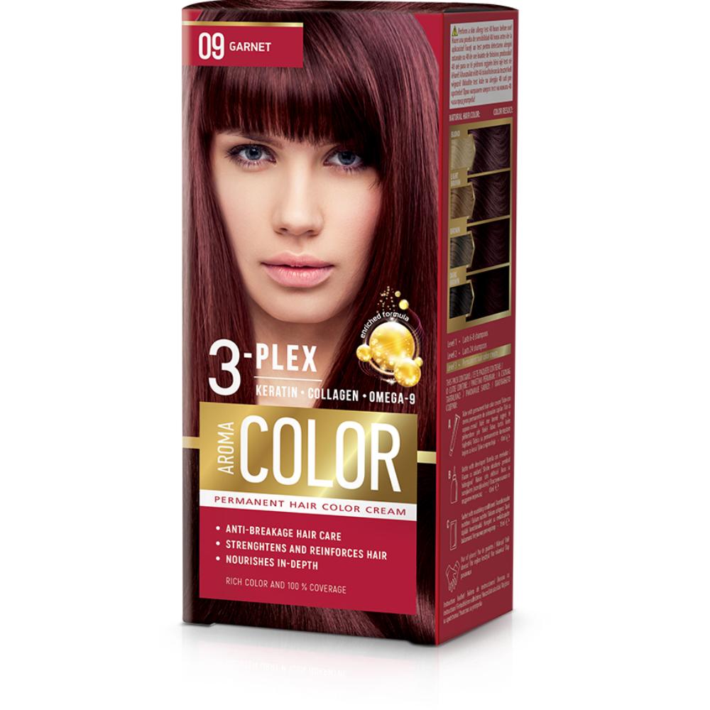 Farba na vlasy - granát č.09 Aroma Color