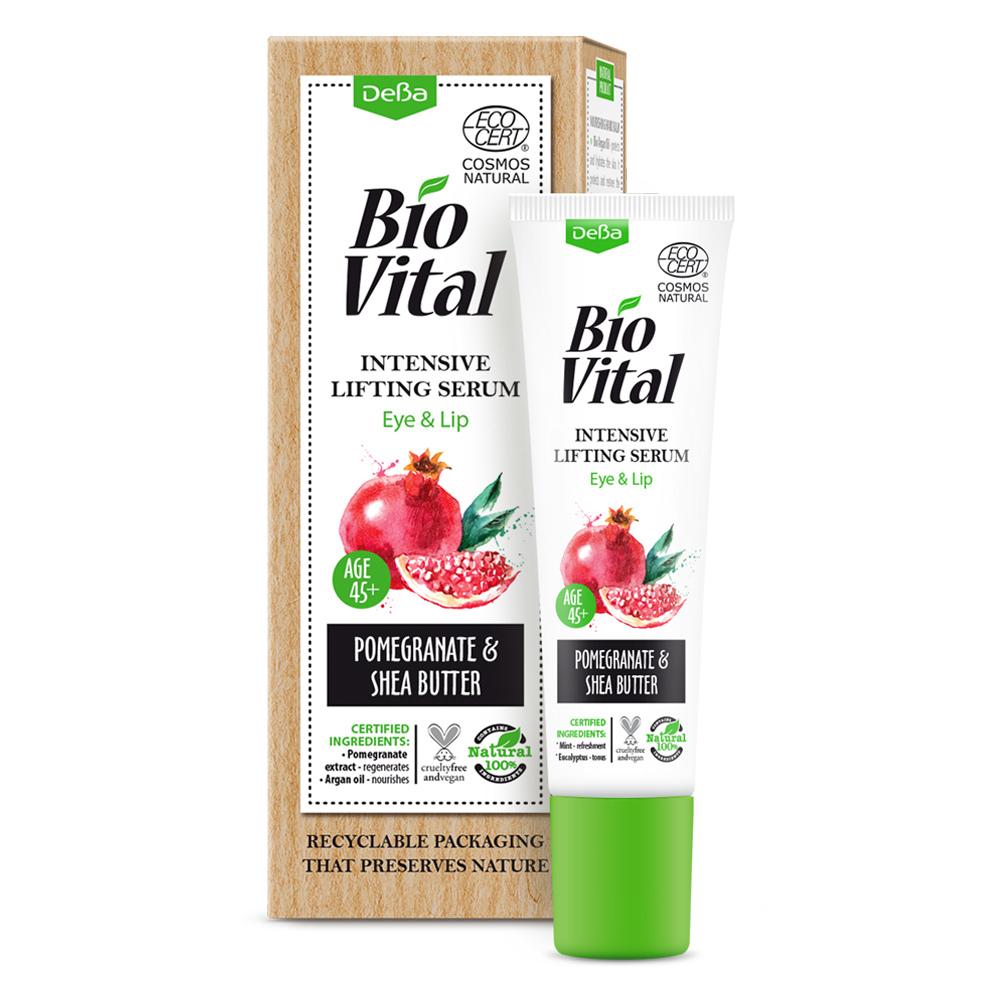 Liftingové sérum na pery a oči 45+ BioVital DeBa 15 ml