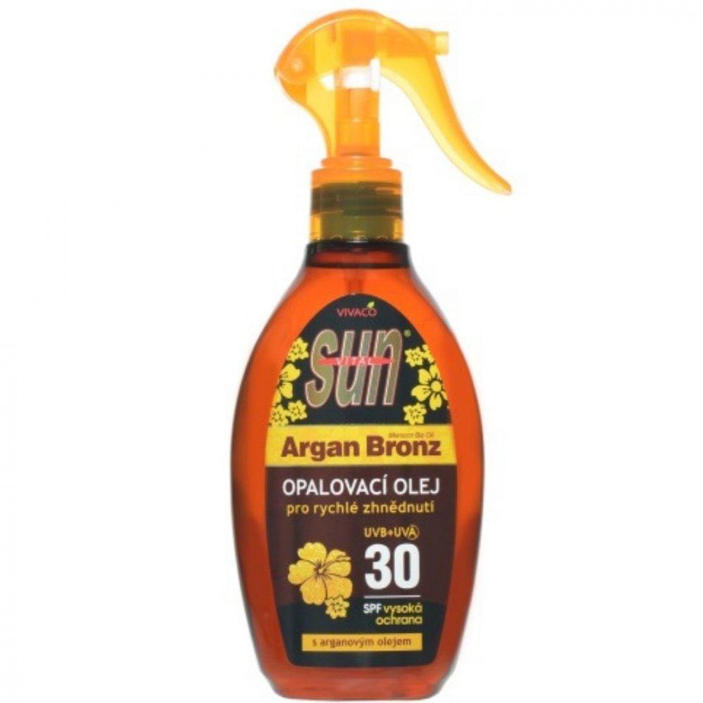 Opaľovací olej SUN Argan oil SPF 30 Vivaco 200 ml