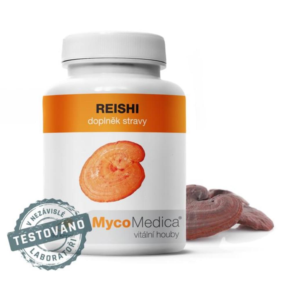 Reishi v optimálnej koncentrácii MycoMedica 90 rastlinných kapsúl