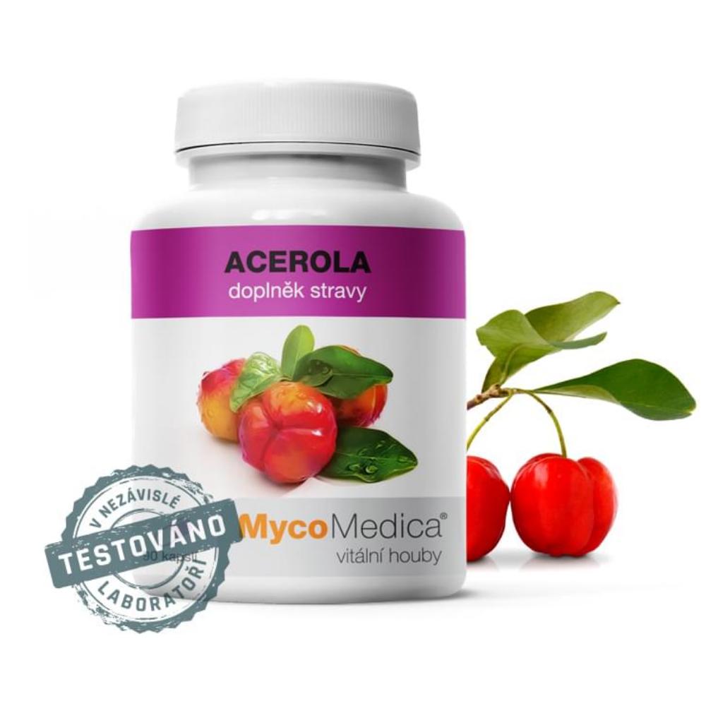 Acerola v optimálnej koncentrácii MycoMedica 90 rastlinných kapsúl