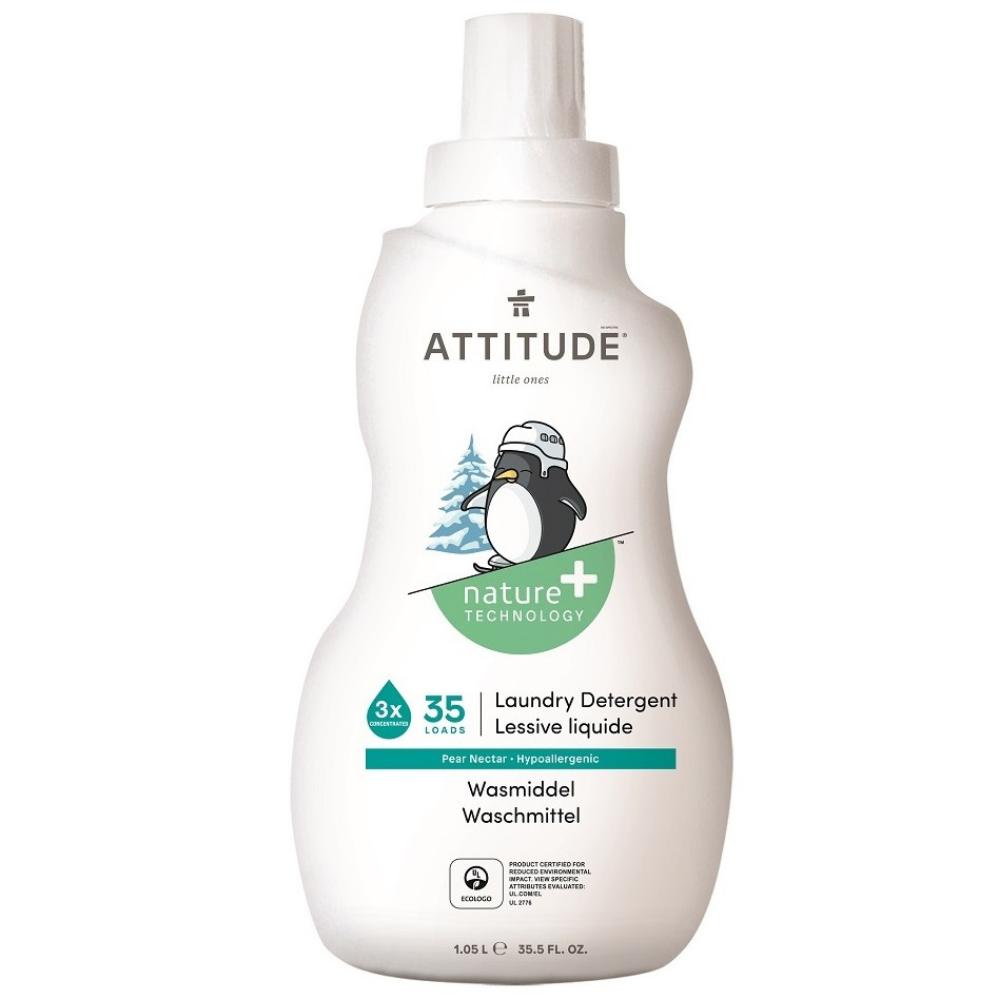 Prací gél pre deti s vôňou hruškovej šťavy Attitude 1050 ml