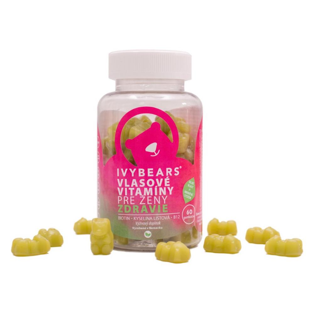 IVY Bears vlasové vitamíny pre ženy - 60 kusov