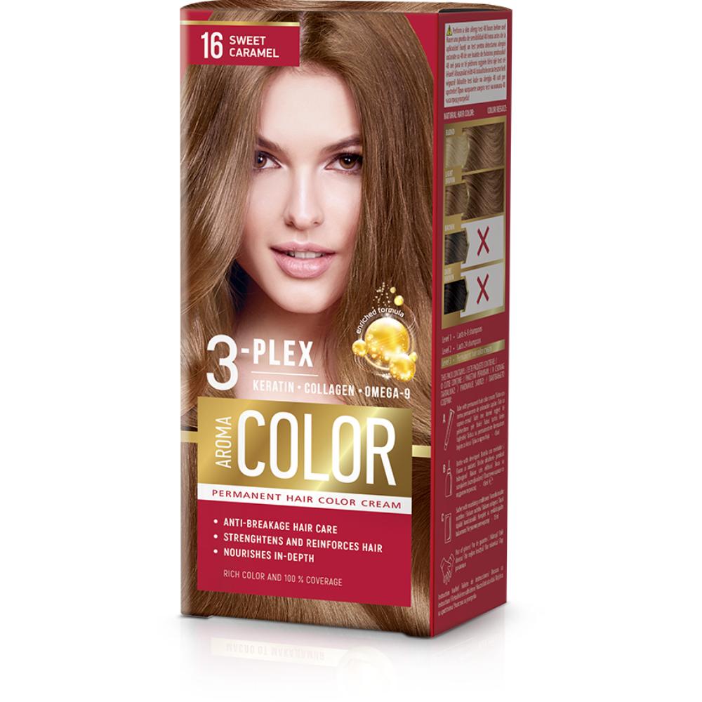Farba na vlasy - sladký karamel č.16 Aroma Color