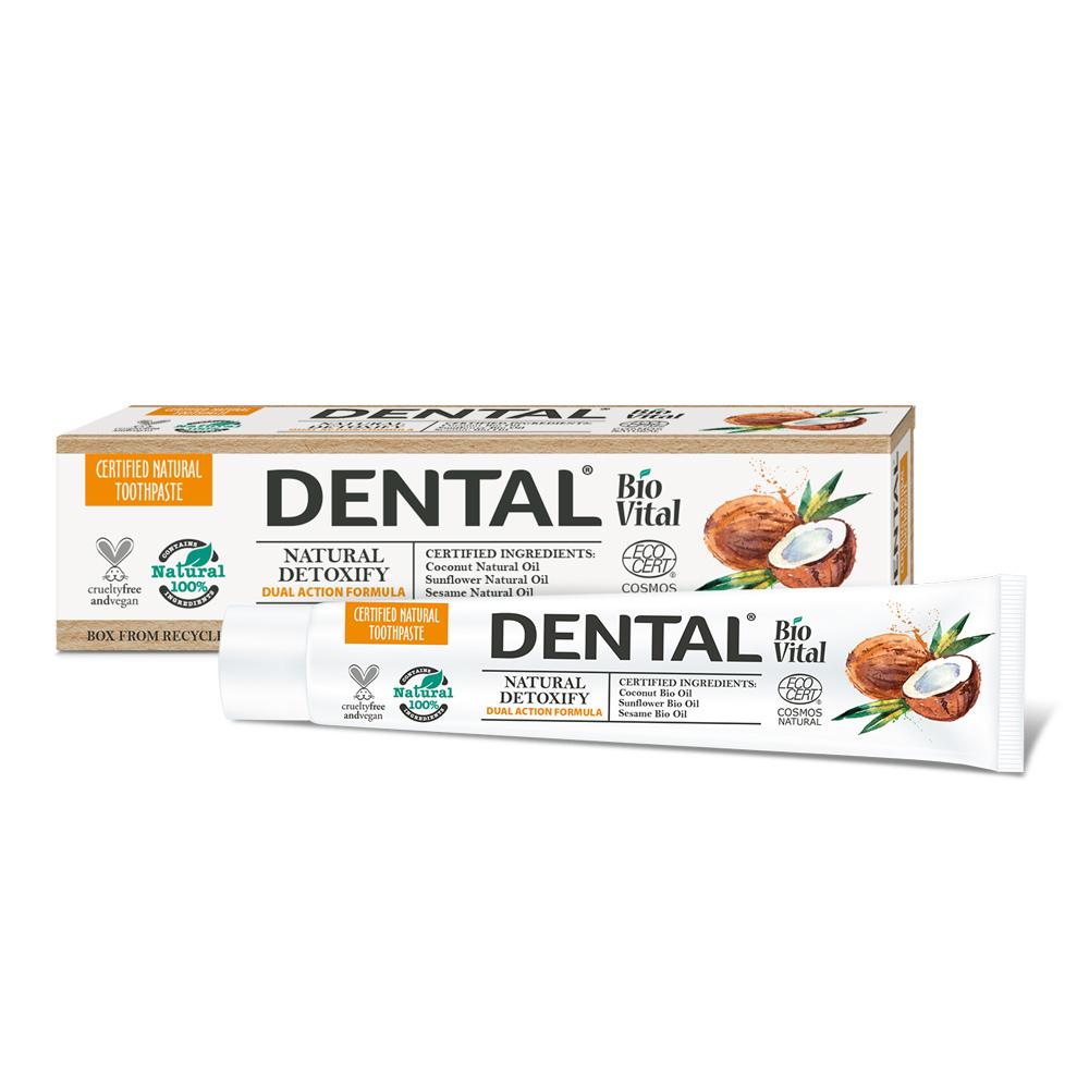 """Zubná pasta """"Natural Detoxify"""" BioVital DeBa 75 ml"""