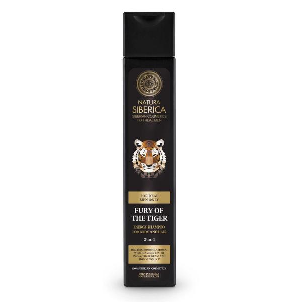 Energizujúci šampón pre telo aj vlasy 2 v 1 Zúrivosť tigra Natura Siberica 250 ml