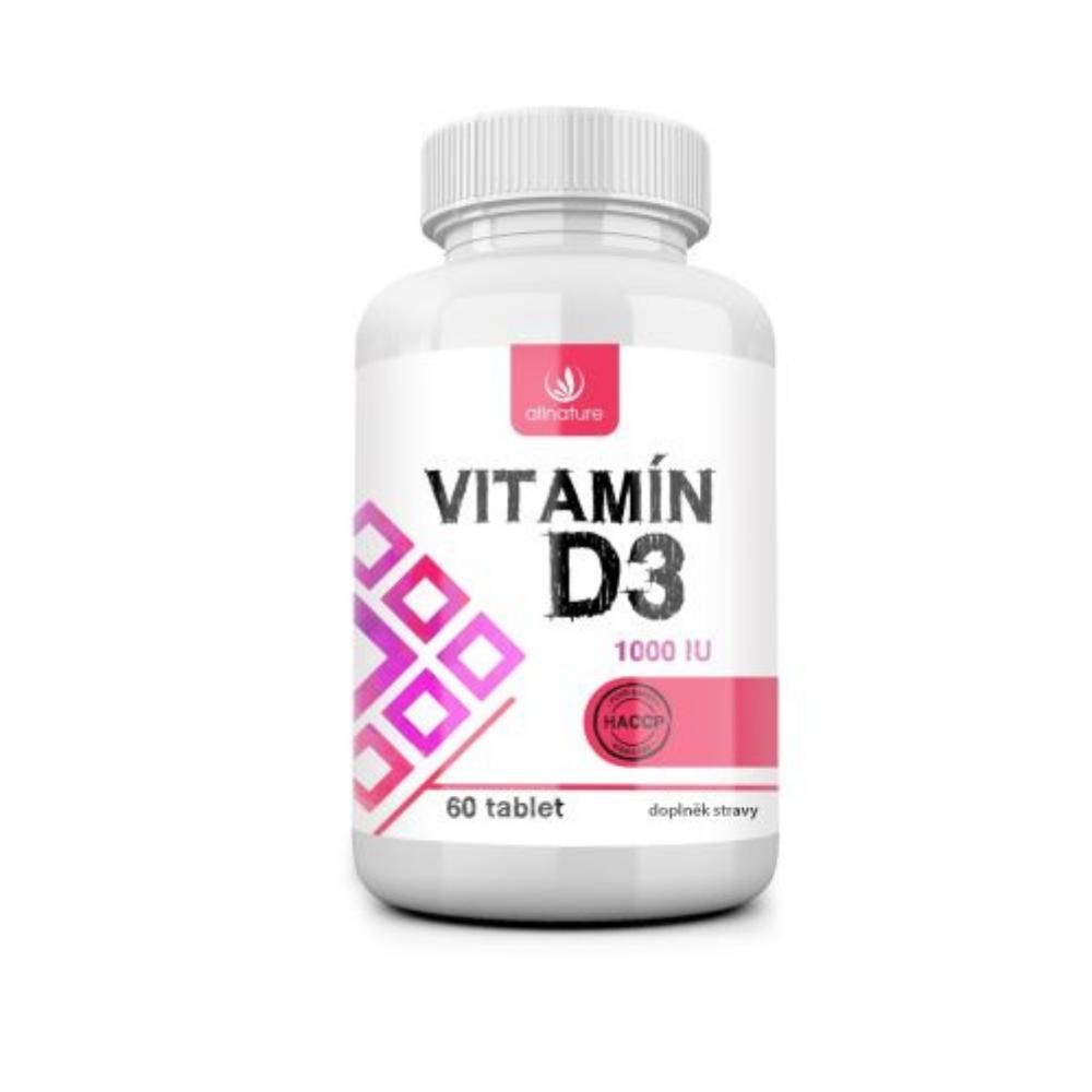 Vitamín D3 Allnature 60 tabliet