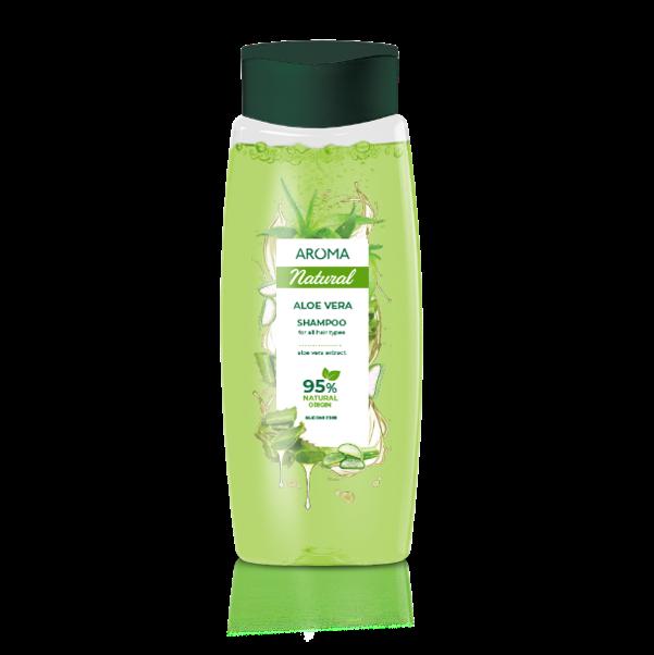 Šampón na všetky typy vlasov Aloe Vera Aroma 400 ml