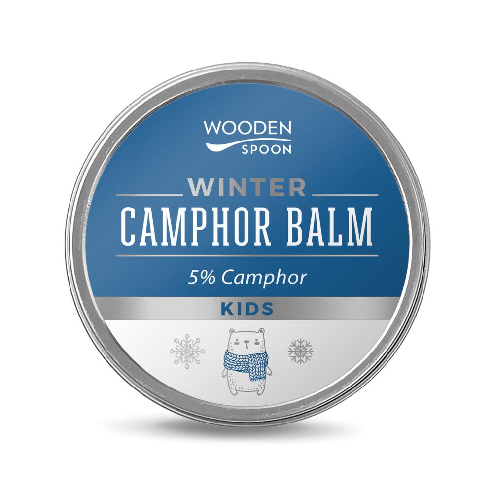 Zimný balzám pre deti s gáfrom 5% WoodenSpoon 60 ml