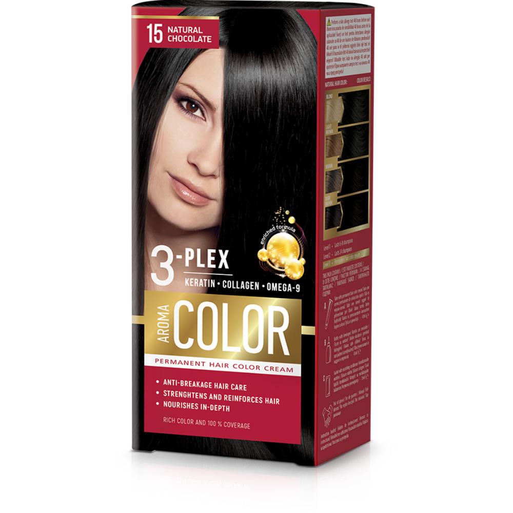 Farba na vlasy - prírodná čokoláda č.15 Aroma Color