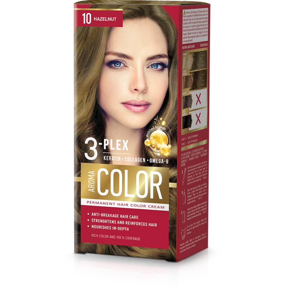 Farba na vlasy - lieskový orech č.10 Aroma Color