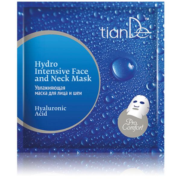 Intenzívna hydratačná maska na tvár a krk s kyselinou hyalurónovou TianDe 1 ks