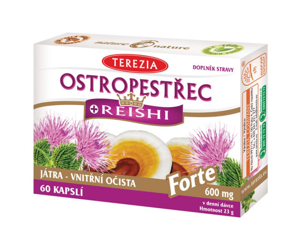 Pestrec + reishi Forte 600mg TEREZIA 60 kapsúl