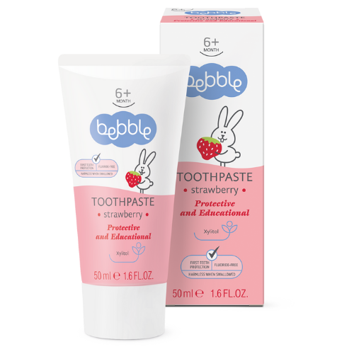 Detská zubná pasta jahoda - Bebble - 50 ml
